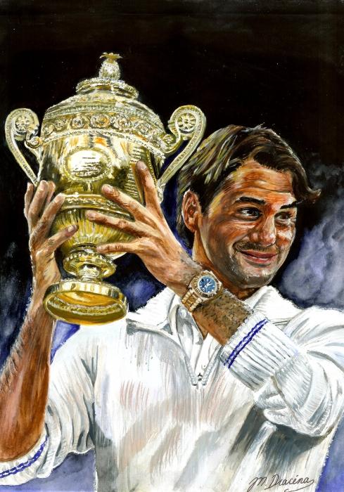 Roger Federer by Mathilde-DRACENA